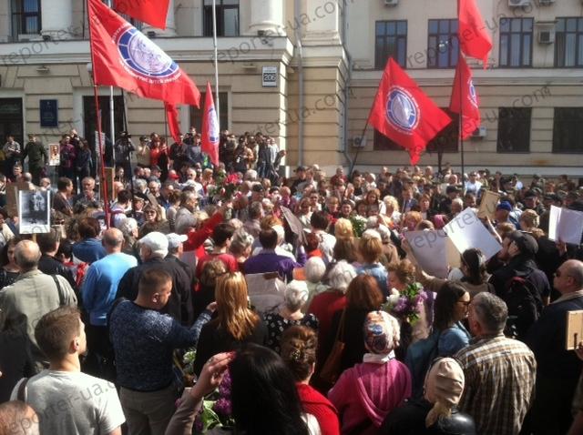 ВЗапорожье произошли стычки между активистами иучастниками акции «Полк победы»