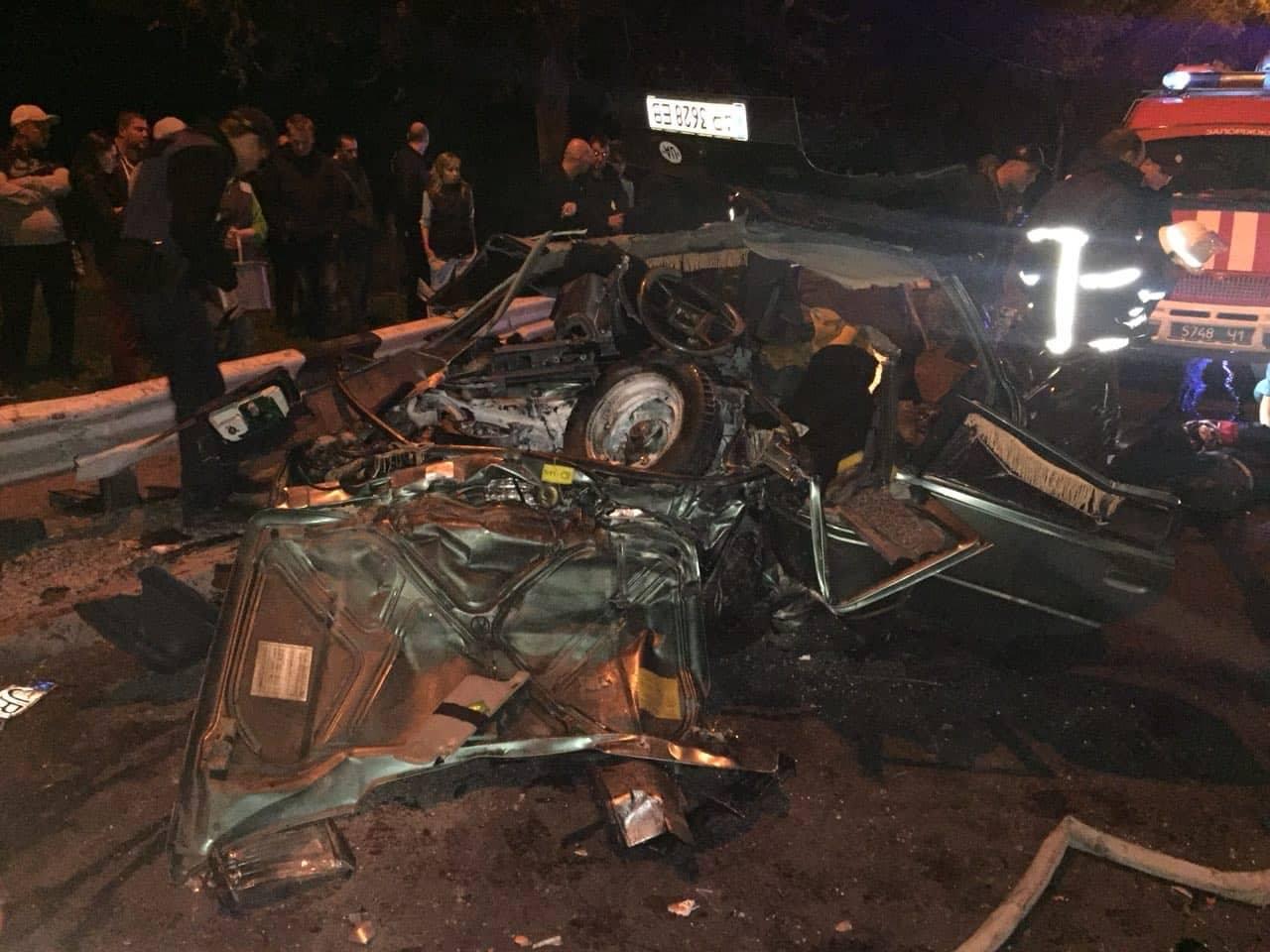В Запорожье произошло ДТП со смертельным исходом. Фото